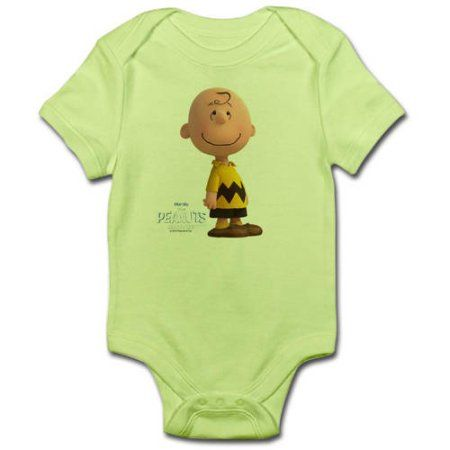 CafePress Charlie Brown - The Peanuts Movie Infant Bodysuit, Green