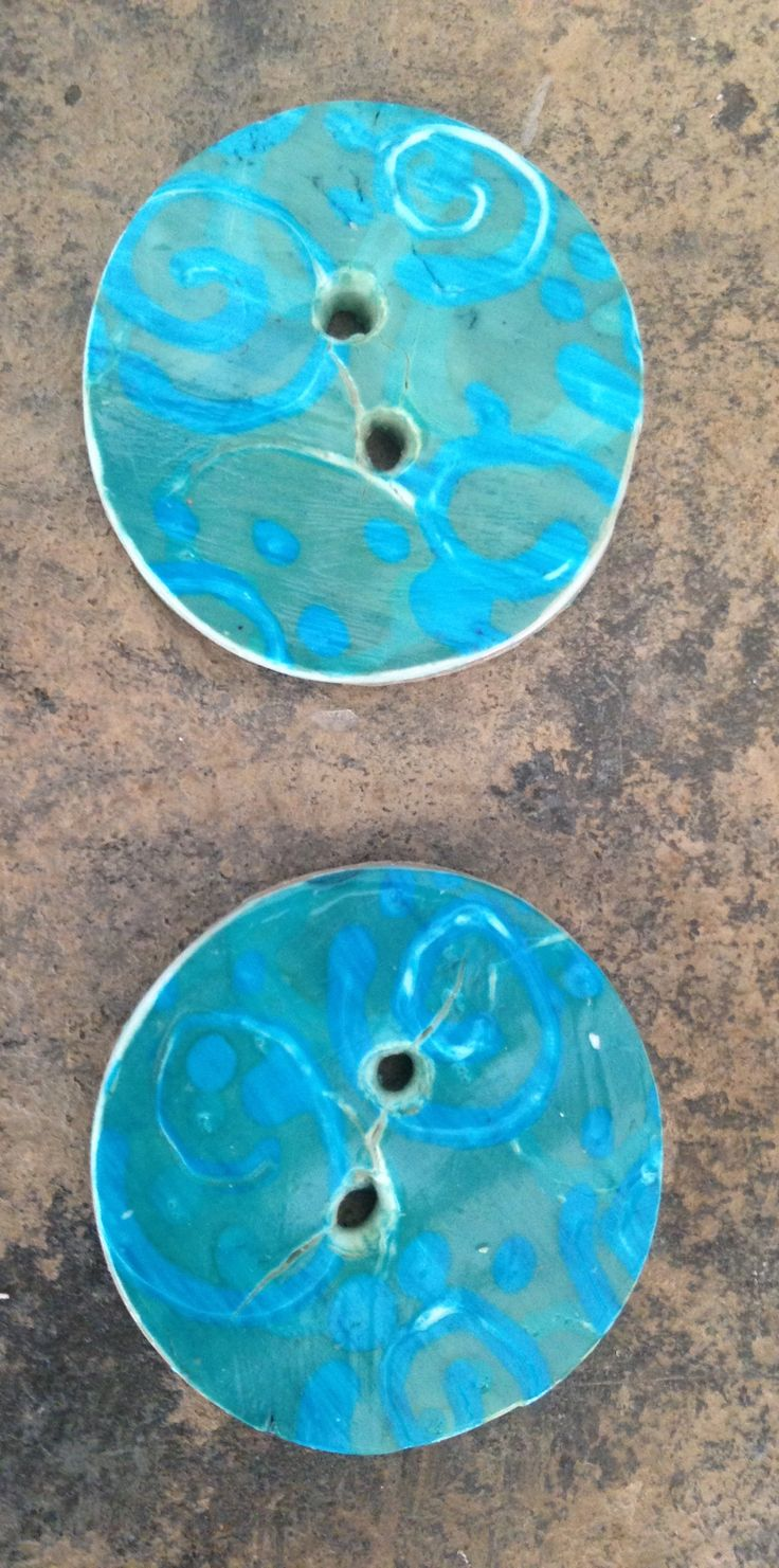 Distressed rustic polymer buttons. By northern bead factory Etsy