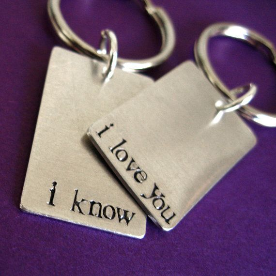 awww...his and hers keychains. :)Keys Rings, Gift Ideas, Star Wars, Stars Wars, Nature Skin, Valentine Gift, Keys Chains, Starwars, Read Princesses