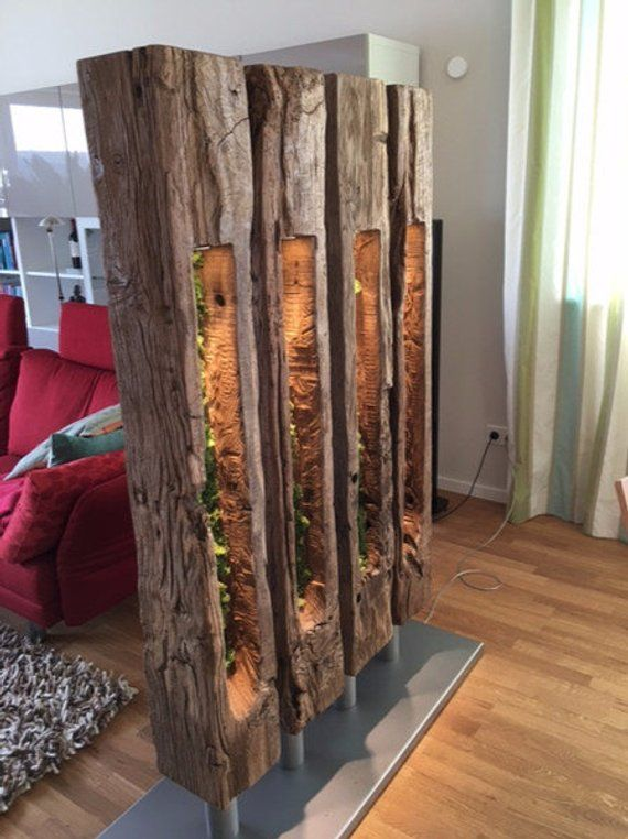Room divider and lamp