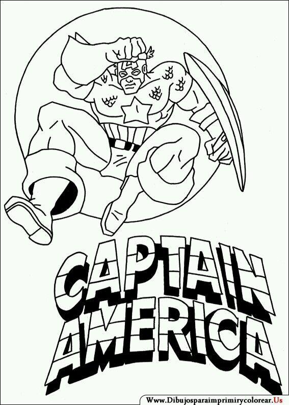7 best captain america images on Pinterest | Hojas para colorear de ...