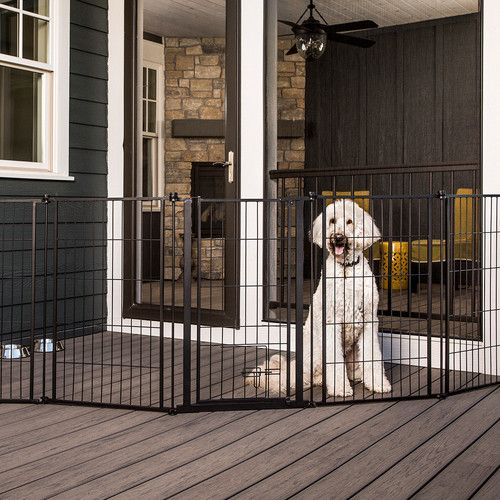 "144"" Extra Wide Pet Gate Outdoor – Canvasback Pet Supplies"