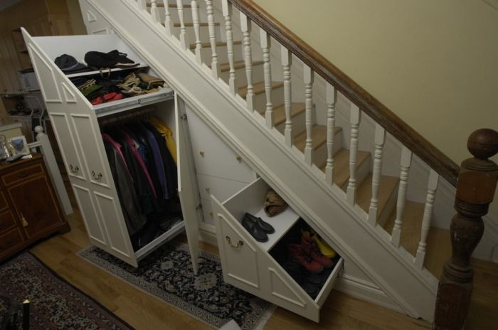 Love the pull out shoe storage organization pinterest for Understairs storage