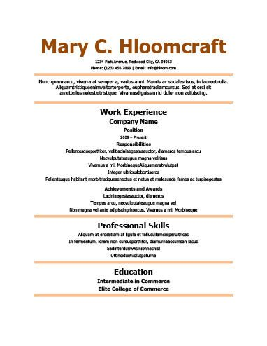 Cv Template Simple Cv Template Pinterest Simple resume - simple resume examples for college students