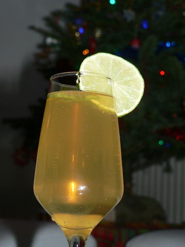 Soupe de champagne au grand marnier et citron vert