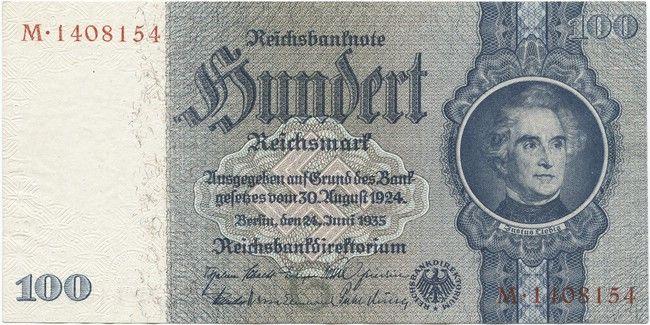 100 Reichsmark 1935 (Liebig) Deutschland Drittes Reich