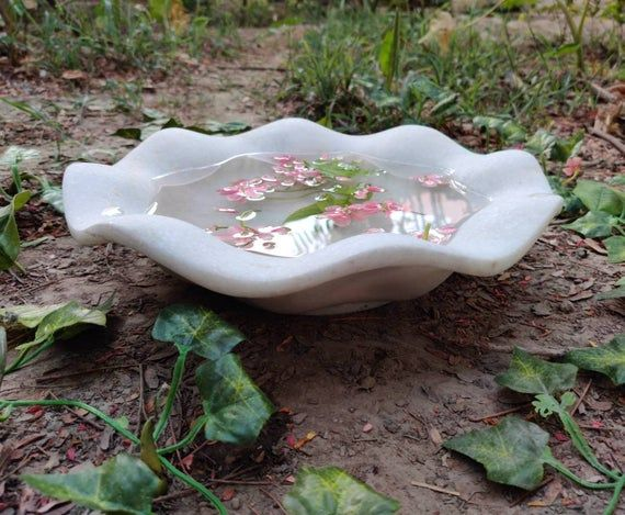 Decorative Marble Bowls Flower Bowl Hand Carved Marble Etsy In 2020 Marble Bowl Marble Decor Flower Bowl