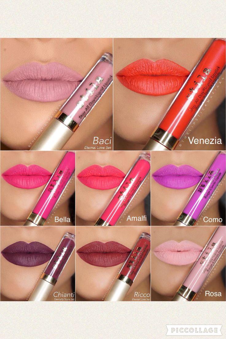 Stila Stay All Day Liquid Lipstick swatches by @Lipstickmafiaaa