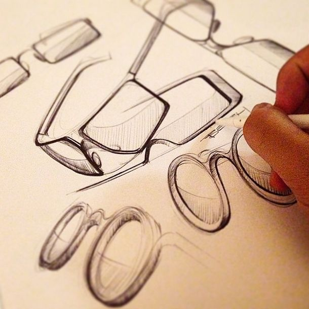 Sketches we like / Pencil Sketch / Analog / Glases /