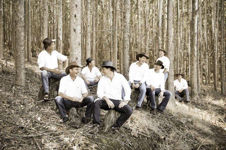 Outdoor cowboys farm fun best friends photography