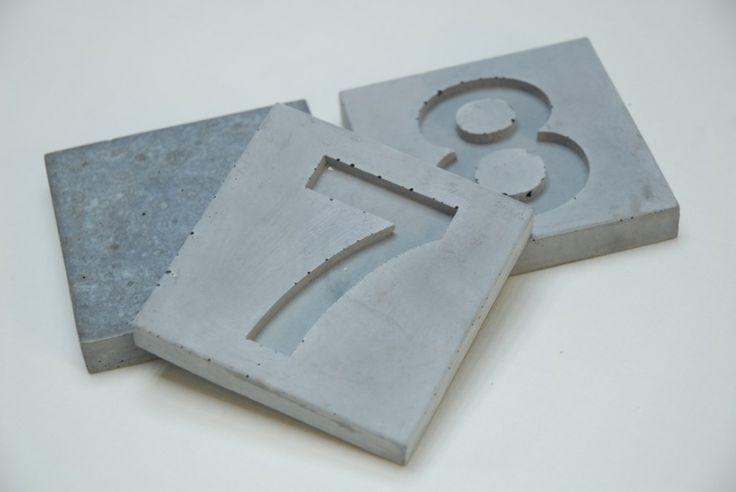hausnummern beton bei betoniu