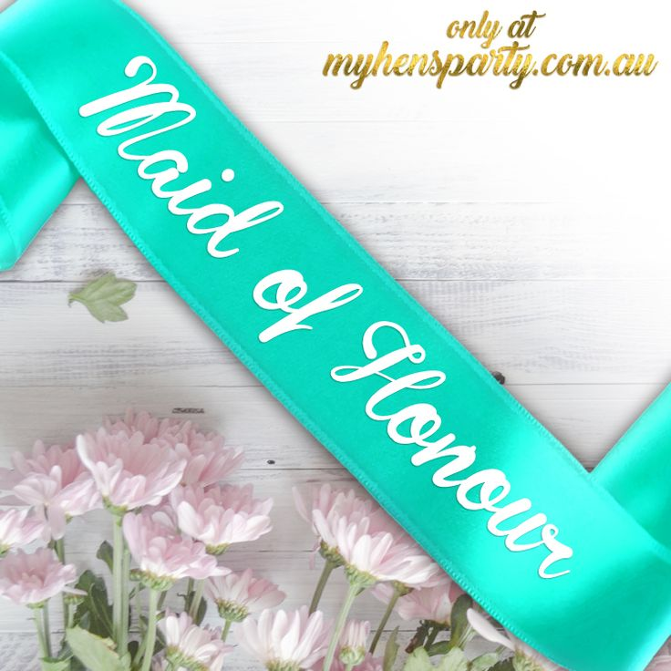 Maid of Honour PrintedSash Our stylishMaid of Honour Printed Sashis the latest trend in wedding must haves! Made in-house at the My Hens Party Shop in Sydney we offer you the choi...