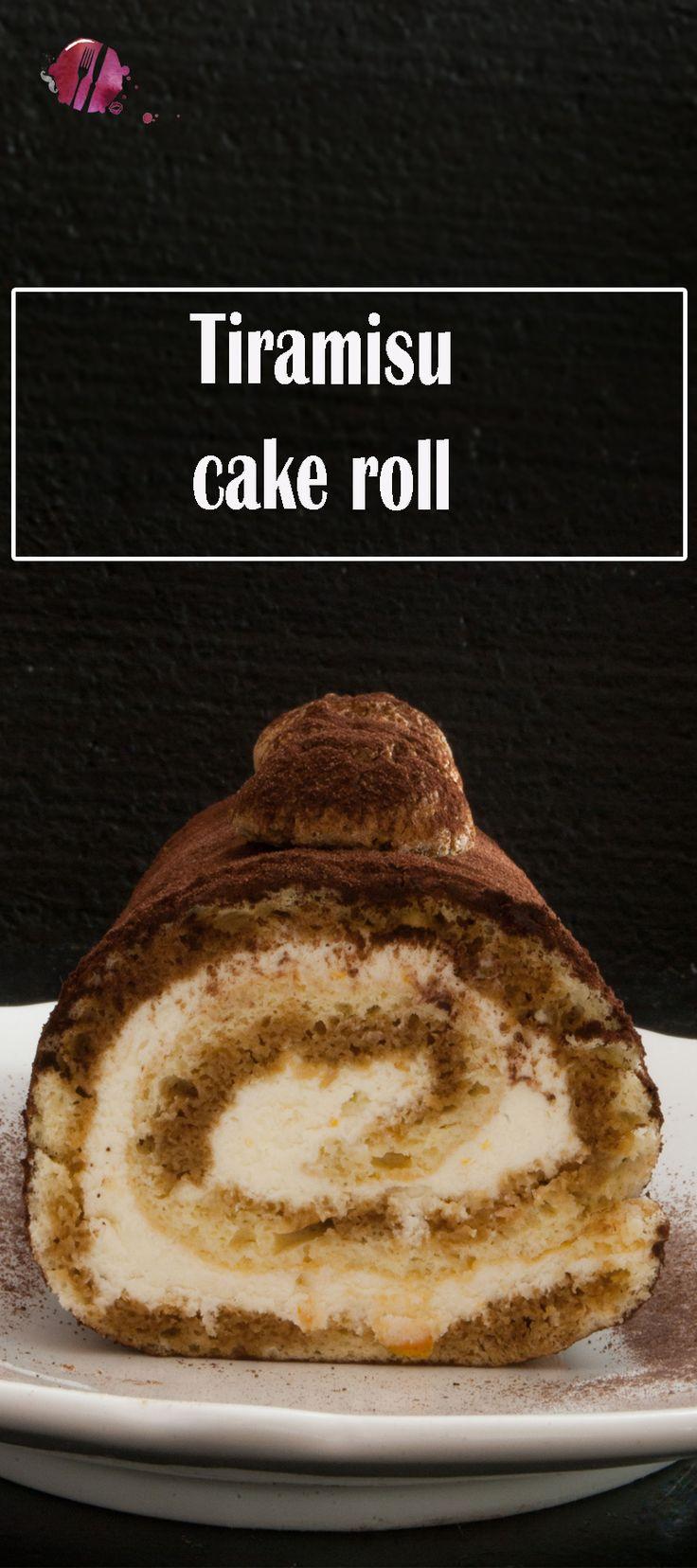 Eine Tiramisu cake roll ohne rohe Eier. Mit diesem Rezept für die Tiramisu Roulade ist das möglich.