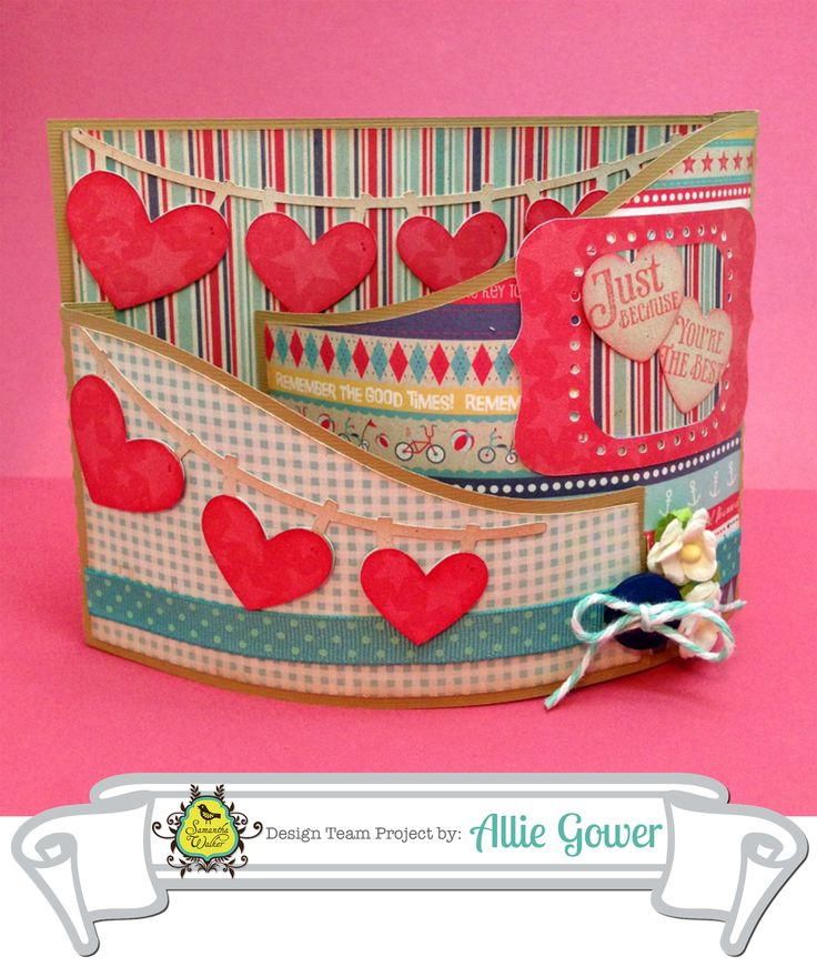 Silhouette Tutorial: Bendy Card with hearts, by Allie Gower!