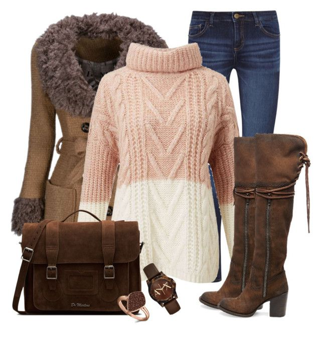"""""""What to wear today!"""" by dijanalazarevska ❤ liked on Polyvore featuring WithChic, DL1961 Premium Denim, Miss Selfridge, Dr. Martens, H.Azeem, Armani Exchange and Steve Madden"""