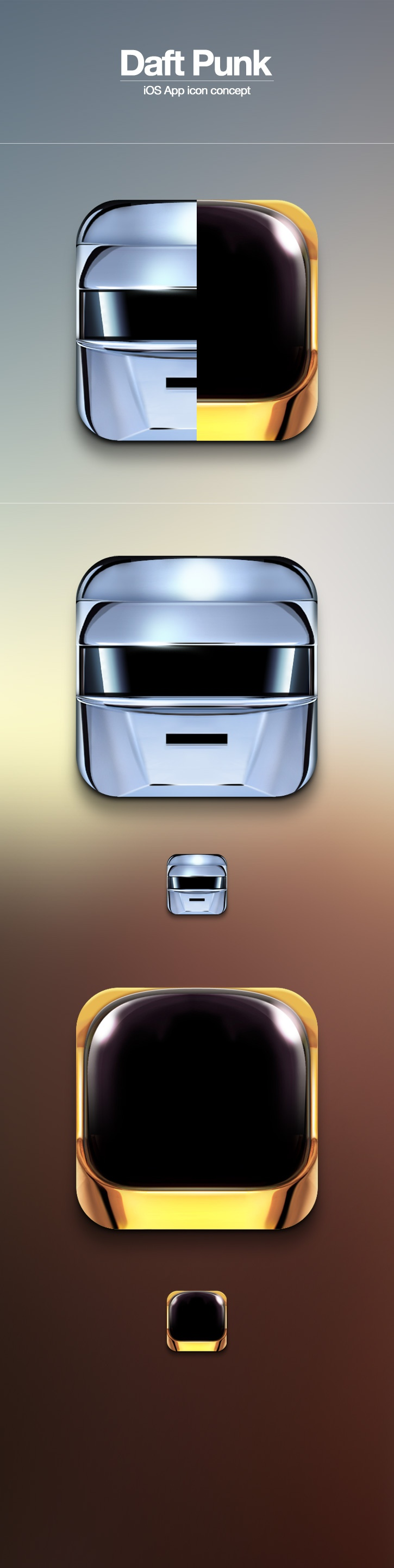"Daft Punk ""Random Access Memories"" based App icon"