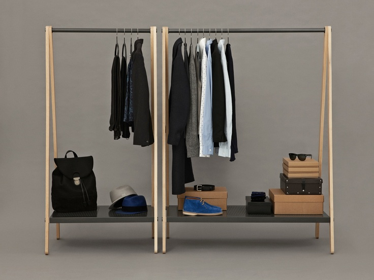 Normann Toj Clothes Rack. The idea behind TOJ is to bring the wardrobe out from the cupboard.