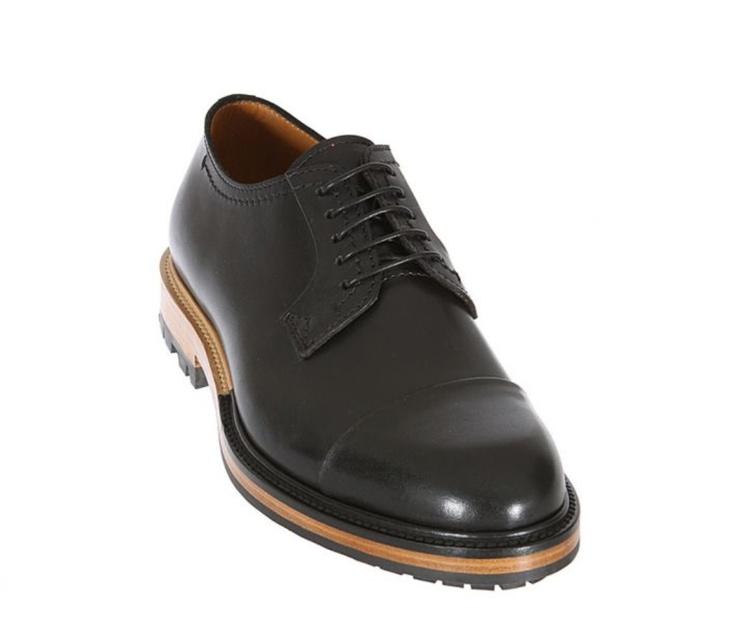 Lanvin Black Leather Lace-Up Shoes