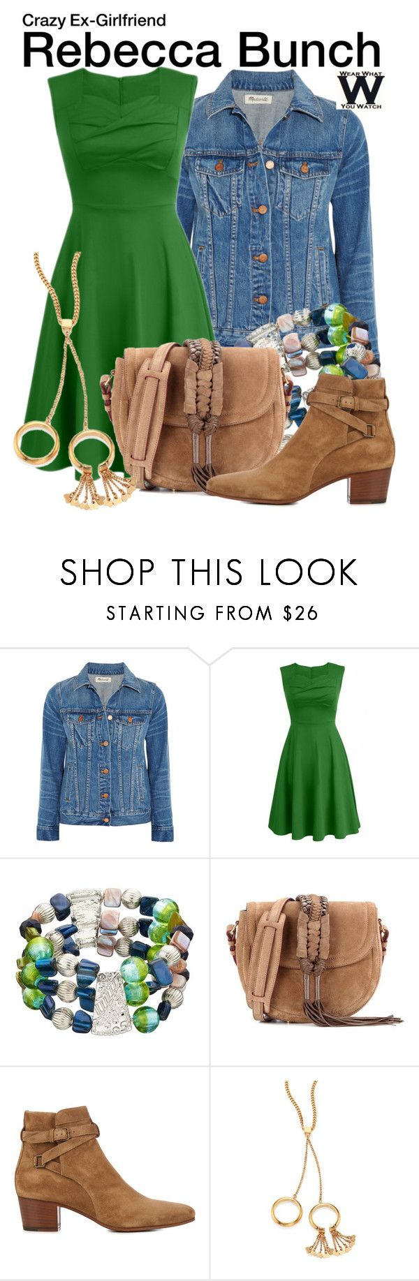 """Crazy Ex-Girlfriend"" by wearwhatyouwatch ❤ liked on Polyvore featuring Madewell, Altuzarra, Yves Saint Laurent, Chloé, television and wearwhatyouwatch"