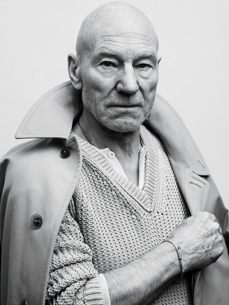 Patrick Stewart photographed by Sebastian Kim for GQ.