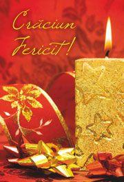 """Felicitare de Crăciun """"Crăciun fericit!"""" (lumânare) - Pe această felicitare este inscripționat: """"Crăciun Fericit!""""; iar în interior puteți găsi textul: """"Domnul a făcut lucruri mari pentru noi și de aceea suntem plini de bucurie! - Psalmul 126:2"""" - http://www.carti-duhovnicesti.ro/-felicitare-de-craciun-craciun-fericit-lumanare-p-1649.html"""