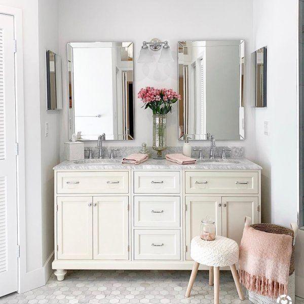 Astor Beveled Wall Mirror Pottery Barn 24x48 Bathroommirrors Small Bathroom Decor Beveled Mirror Bathroom Bathroom Decor