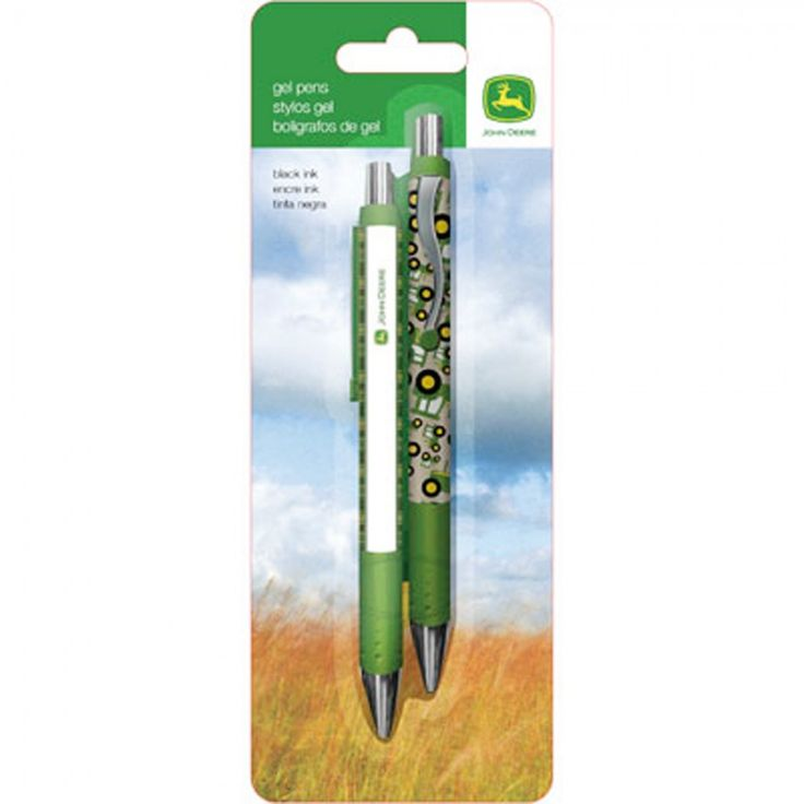 John Deere 2 Pack Gel Pens   School U0026 Office Supplies   Accessories |  RunGreen.com | John Deere Office And School Supplies | Pinterest