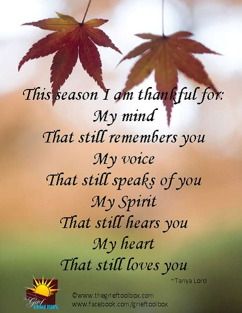 i am thankful for the time i had you in my life