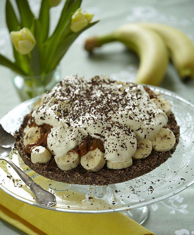 Banoffee pie med (chokolade kikse bund)