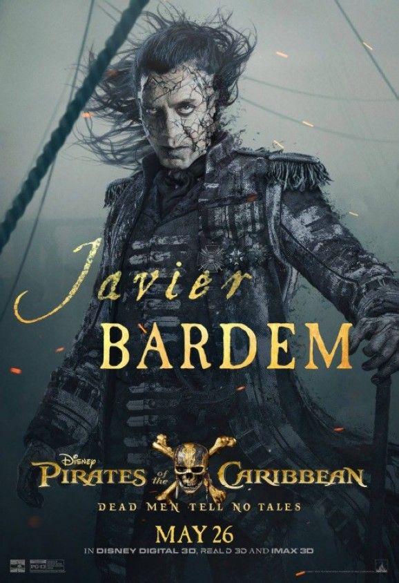 Neues Poster zu Fluch der Karibik 5: Javier Bardem