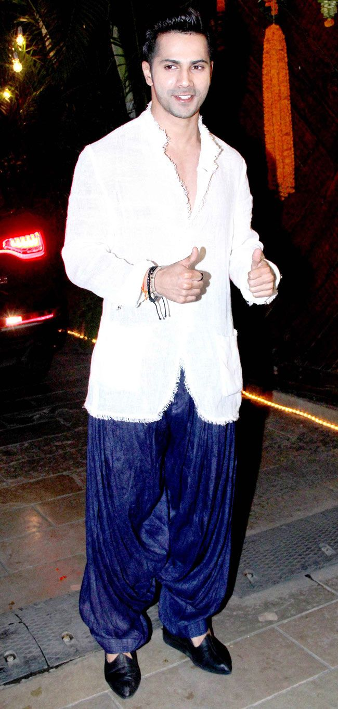 Varun Dhawan at Amitabh Bachchan's Diwali bash. #Bollywood #Fashion #Style…