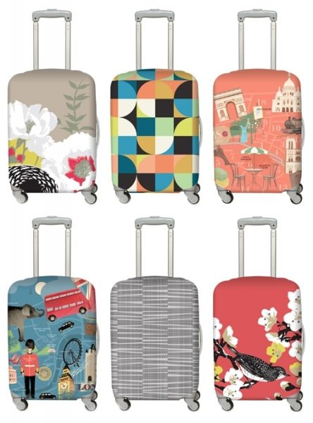 Loqi Luggage Covers - Stylish & easily recognizable,  so you'll always know which is yours.  #travelstyle