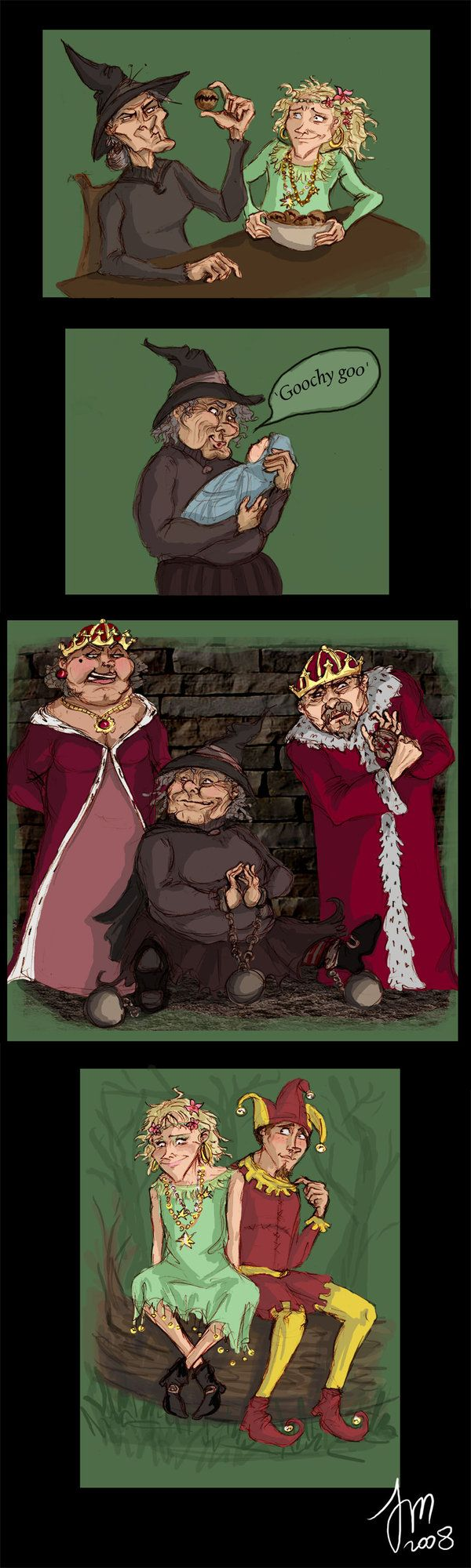 Pratchett doodles-Wyrd Sisters by yenefer.deviantart.com on @deviantART