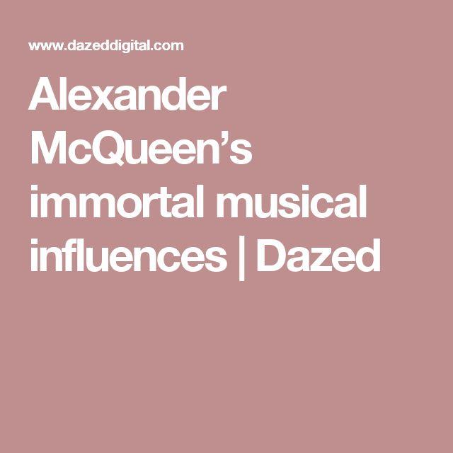 Alexander McQueen's immortal musical influences | Dazed