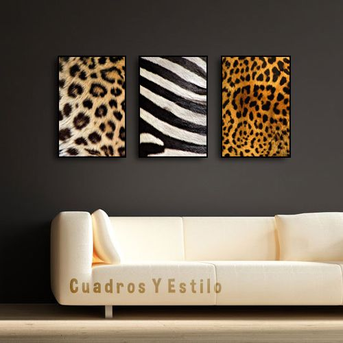 Cuadros Poster Animal Print Zebra Leopardo Decoracion Mueble ...