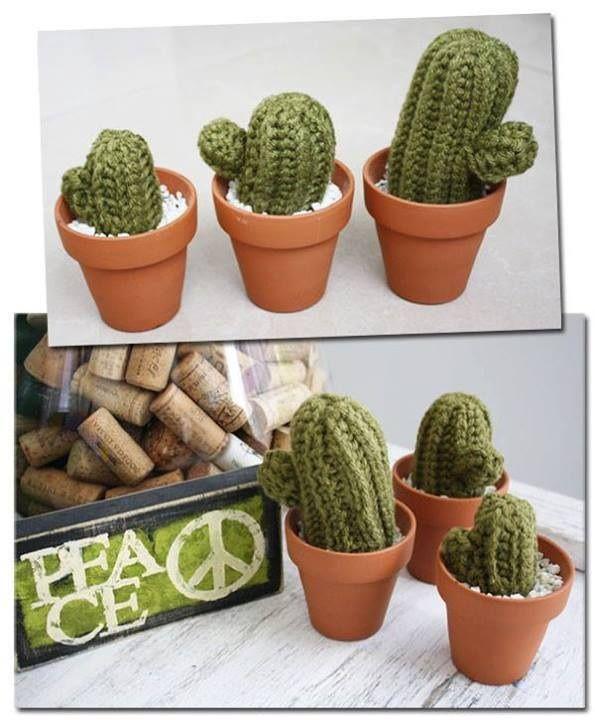 Cactus tejidos a crochet, $180 en http://ofeliafeliz.com.ar