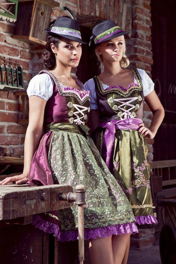 Chicly pretty! Mademoiselle Anouk - Herbst/Winter 2012/13. #dirndl #dress #German #Austrian #folk #traditional #costume #Oktoberfest