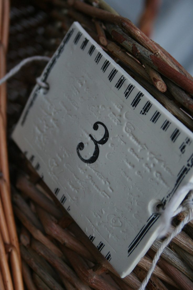 "Distressed Ticking Numbered Basket Labels     Large  2 1/2"" by 3 3/4"". $4.00, via Etsy.    For baskets on changing table"