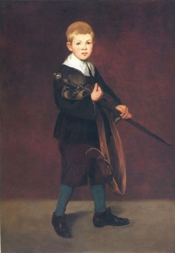 L'Enfant à l'épée (1861) - Dimensioni 131,1×93,3 cm - olio su tela - in esposizione al The Metropolitan Museum of Art di New York