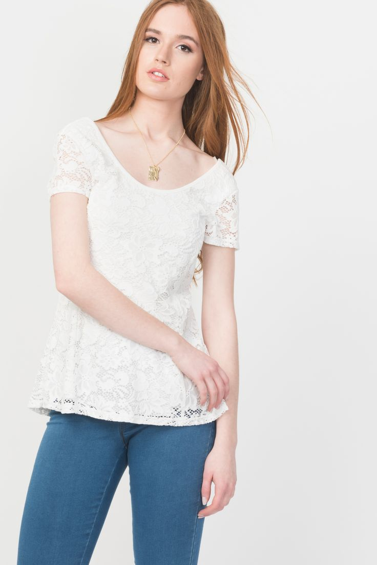 Lace Fit & Flare Lace Top