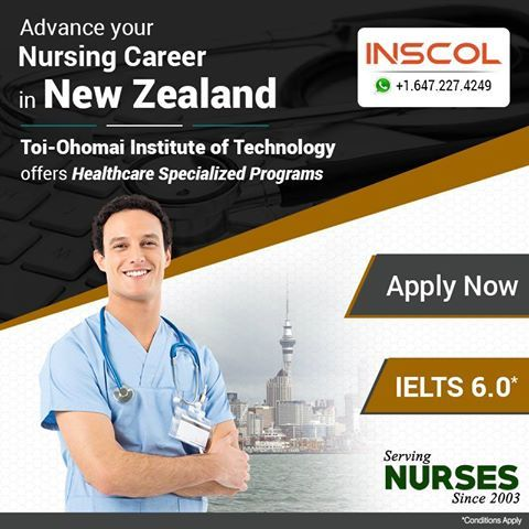 Great Opportunity for Nurses who wish to 'Study and Live' in #NewZealand.