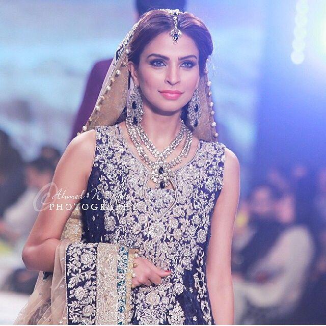 Fouzia Aman wearing Zainab Chottani. Pantene Bridal Couture week 2014