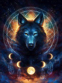 Dream Catcher Wolf by Jonas Jödicke   metal posters – Tammy Howard