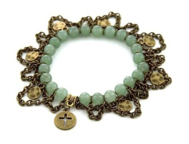 Cute bracelet with instuctions from Michael's    http://www.michaels.com/Amulet-Jade-Stretchy-Bracelet/29692,default,pd.html?cgid=projects-beads-collections-amulet=5_mmc=email-_-20120327JEWL-_-Hero-_-stretchy+bracelet