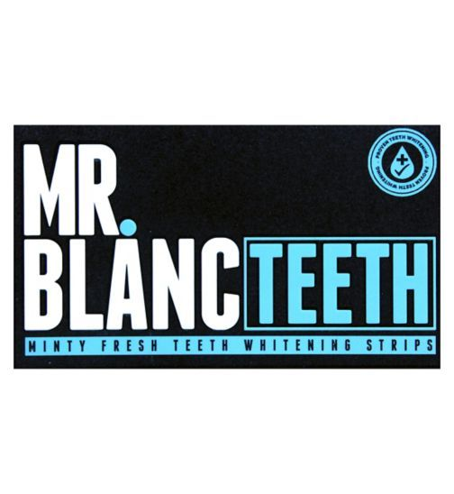 Mr. Blanc Teeth Whitening Strips - 14 Sachets each contains an upper strip and lower strip - Boots