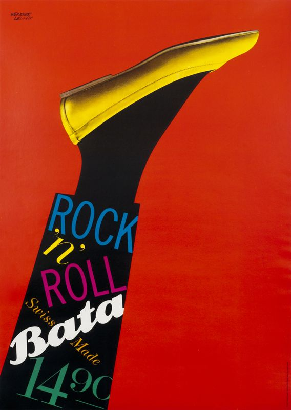 1961 poster by Herbert Leupin for Bata Shoes