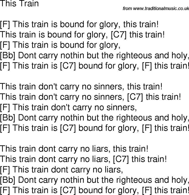 Lyrics containing the term: train