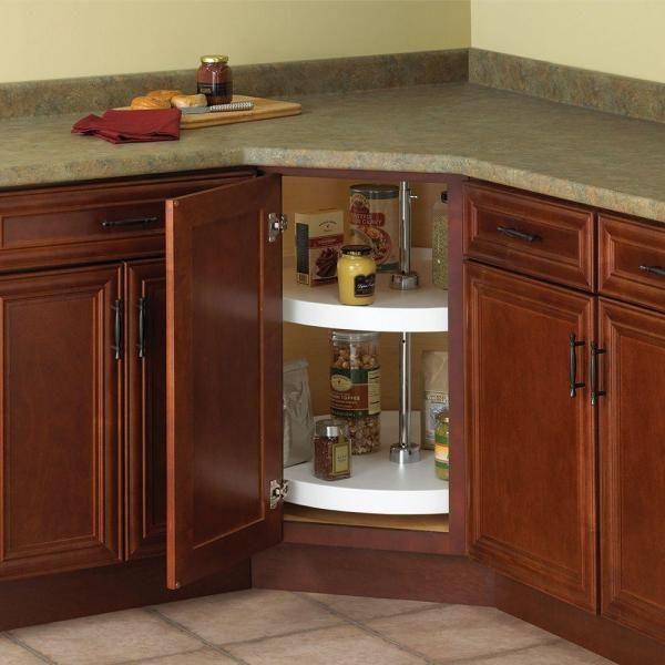 Home Depot Kitchen Cabinet Organizers Knape & Vogt 32 in. H x 24 in. W x 24 in. D 2 Shelf White Polymer