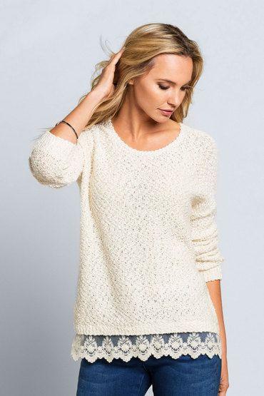 Buy Monsoon Marisa Lace sweater | Shop Tops Womenswear at the BrandStore EziBuy NZ