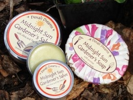 Denali Dreams soap and other products.  Made in Alaska.  The best!